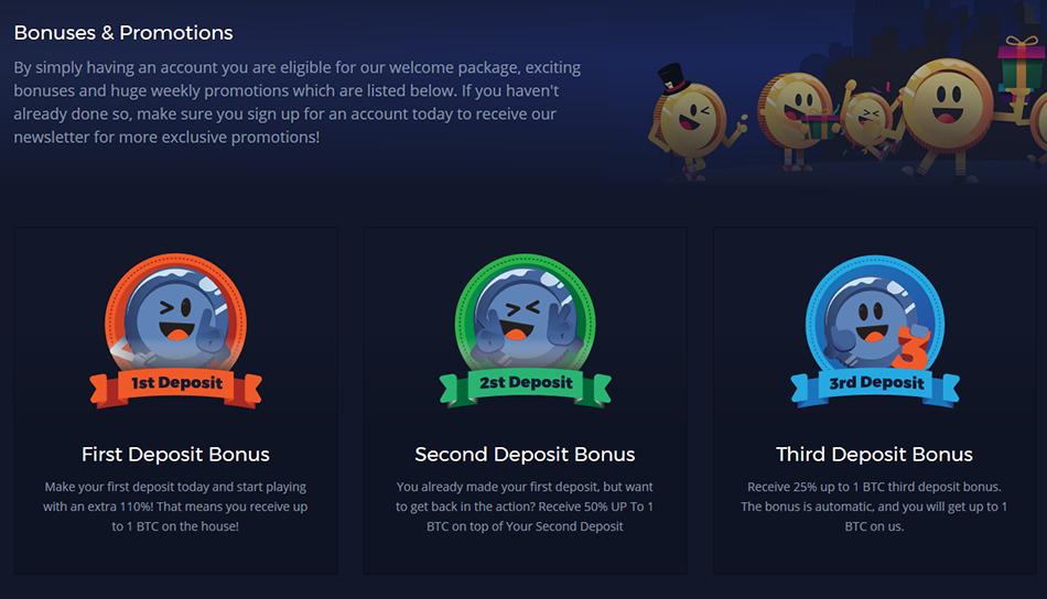 mBitCasino Bonuses