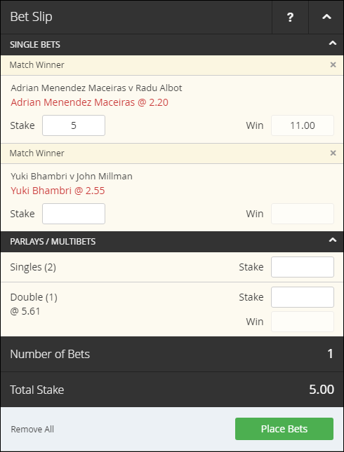 Intertops Bet slip 2