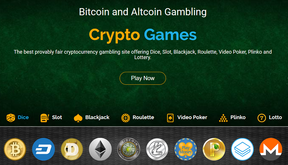 Crypto Games New Account