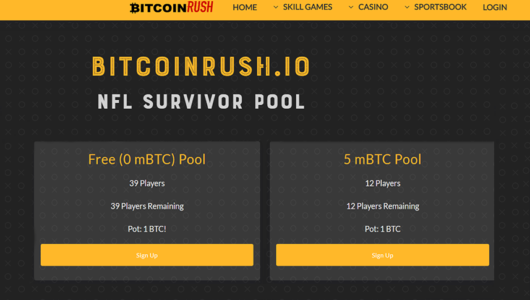 bitcoinrush casino offers bitcoin