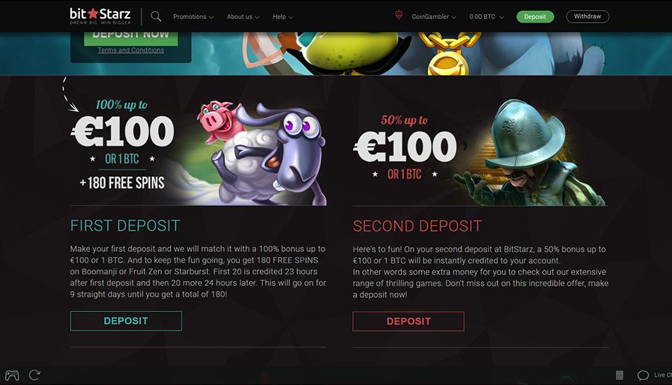 bitstarz first deposit bonus