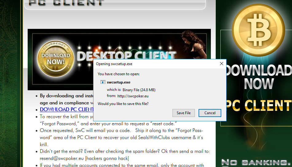 seals with clubs SwC Poker account creation second step