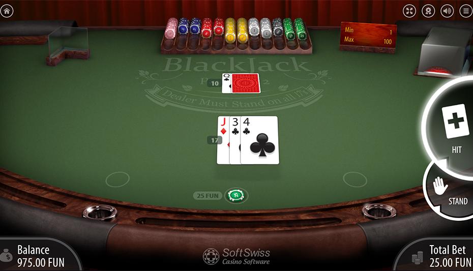 Blackjack example bust