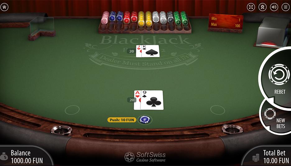 blackjack push