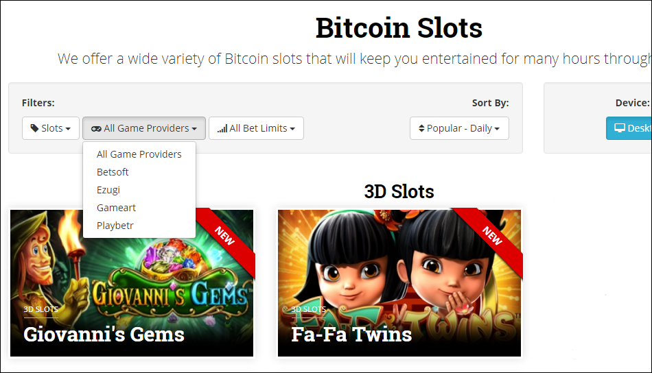 betcoin casino by slots