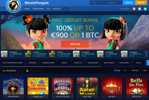 bitcoin penguin homepage