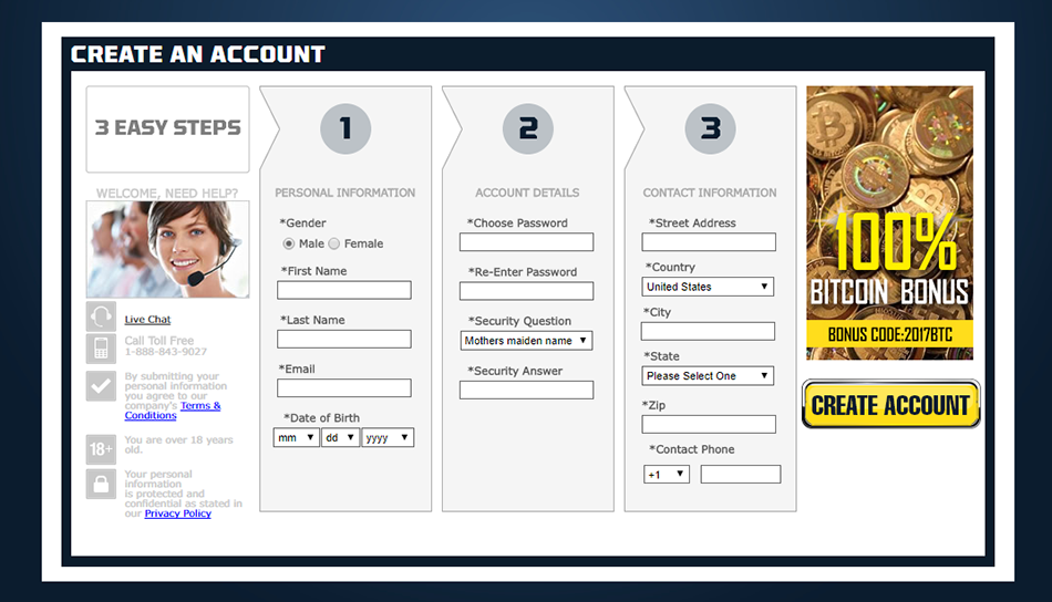 sportbetting.ag account registration