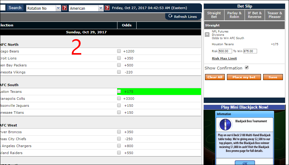 sportbetting.ag betting slip after click