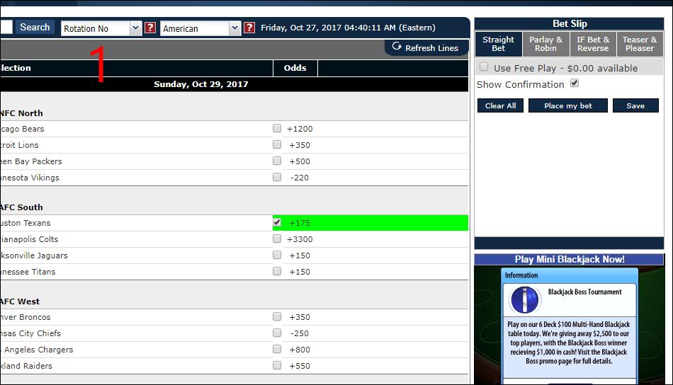 sportbetting.ag betting slip pre click